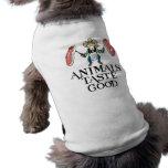 Gusto de los animales bueno camisas de mascota