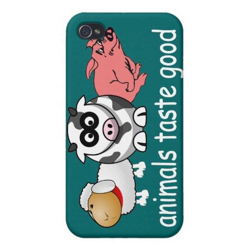 Gusto de los animales bueno - color de fondo cambi iPhone 4 protector