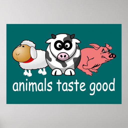 Gusto de los animales bueno - color de fondo cambi posters