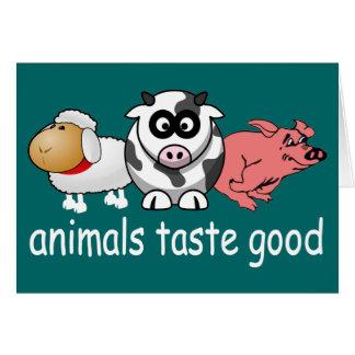 Gusto de los animales bueno - color de fondo tarjeta pequeña