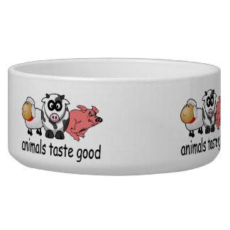 Gusto de los animales bueno comedero para mascota