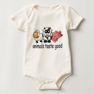 Gusto de los animales bueno - diseño divertido de body para bebé