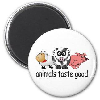 Gusto de los animales bueno - diseño divertido de imán redondo 5 cm