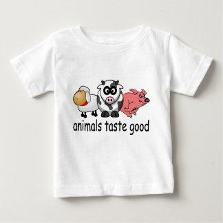 Gusto de los animales bueno - diseño divertido de playera de bebé
