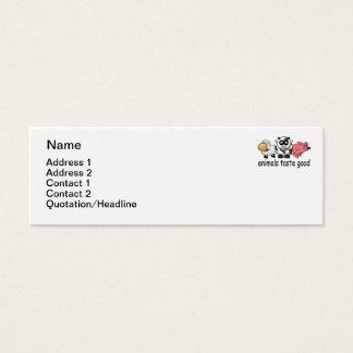 Gusto de los animales bueno - diseño divertido de tarjetas de visita mini