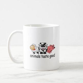 Gusto de los animales bueno - diseño divertido de taza de café