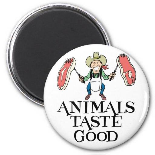 Gusto de los animales bueno imán redondo 5 cm