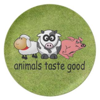 Gusto de los animales bueno platos de comidas