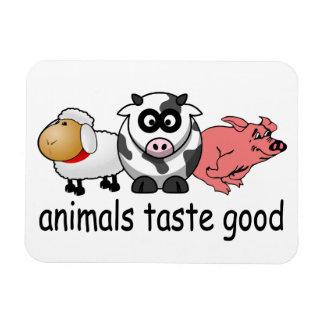Gusto de los animales bueno rectangle magnet