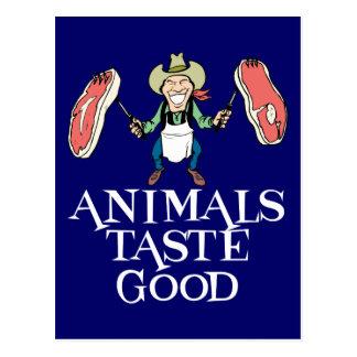 Gusto de los animales bueno postal
