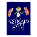 Gusto de los animales bueno tarjeton