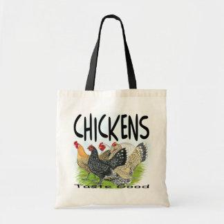 ¡Gusto de los pollos bueno! Bolsas Lienzo