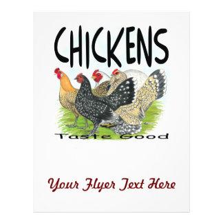 """¡Gusto de los pollos bueno! Folleto 8.5"""" X 11"""""""