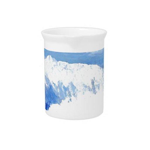 Gusto del mar - paisaje marino azul de las olas oc jarra