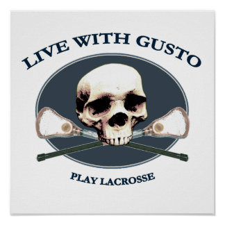 Gusto Lacrosse Pirate Poster