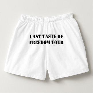 Gusto pasado del novio del viaje de la libertad calzoncillos