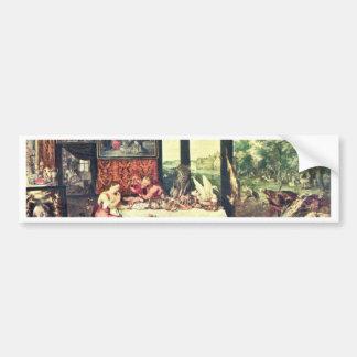Gusto por Bruegel D. Ä. enero (la mejor calidad) Pegatina De Parachoque