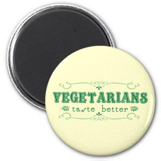 Gusto vegetariano imán redondo 5 cm