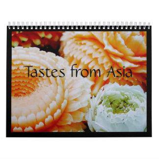 Gustos del calendario 2008 de Asia