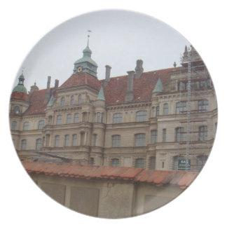 Gustrow Castle Germany Melamine Plate