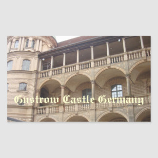 Gustrow Castle Germany Rectangular Stickers