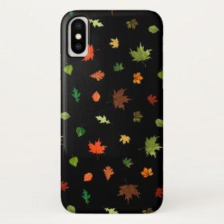 Gusty Autumn Days Leaves Pattern iPhone X Case