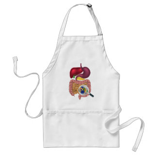 Gut Bacteria Magnifying Glass Adult Apron