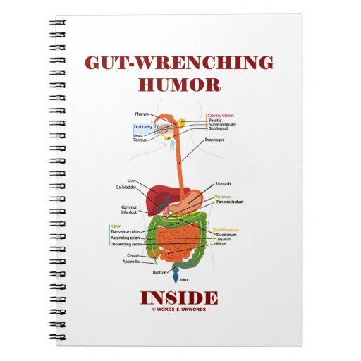 Gut-Wrenching Humor Inside (Digestive System) Notebooks