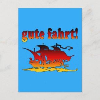 Gute Fahrt Good Trip in German Vacations Travel postcard