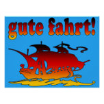 Gute Fahrt Good Trip in German Vacations Travel Print