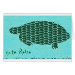 gute Reise Schildkröten Greeting Card