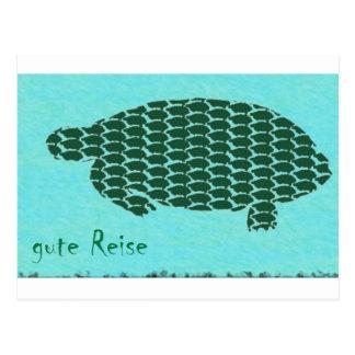 gute Reise Schildkröten Tarjetas Postales