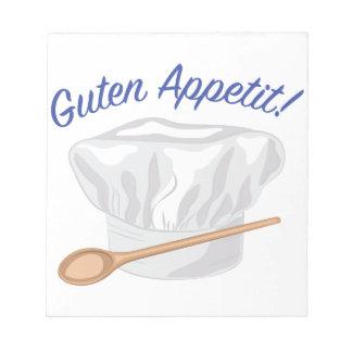 Guten Appetit Note Pad