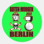 GUTEN MORGEN BERLIN II CLASSIC ROUND STICKER