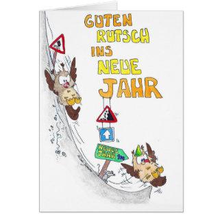 GUTEN RUTSCH Greeting card by Nicole Janes