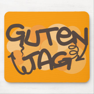 Guten tag German Hello in graffiti style Mousepad