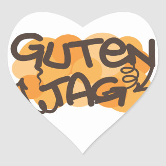 Guten tag German Hello in graffiti style Stickers