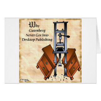 Gutenberg Cartoon 3477 Card
