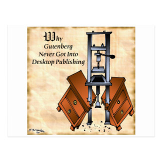 Gutenberg Cartoon 3477 Postcard