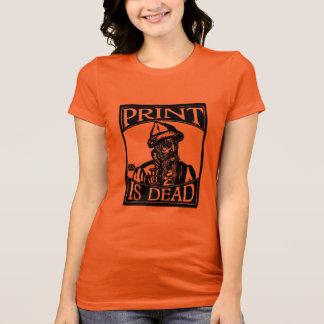"Gutenberg ""Print is Dead"" from Woodcut T-Shirt"