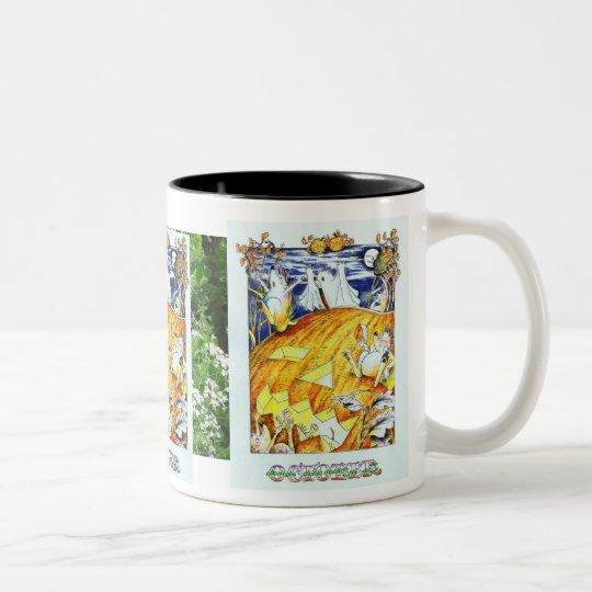 Guthram Hedgehog October Two-Tone Coffee Mug