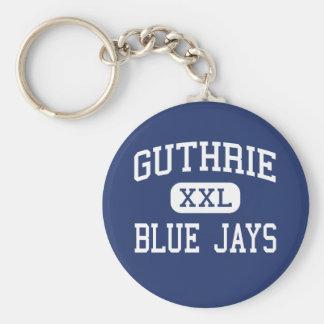 Guthrie - arrendajos azules - alto - Guthrie Oklah Llavero Redondo Tipo Pin