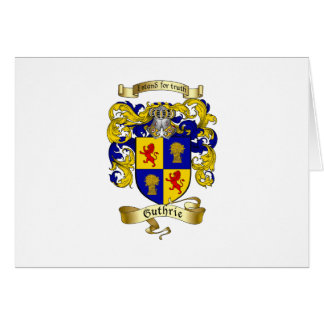 Guthrie Coat of Arms Card