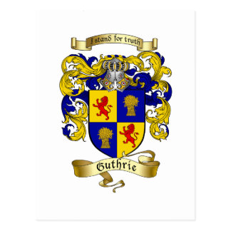 Guthrie Coat of Arms Postcard