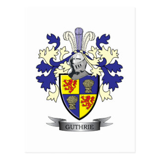 Guthrie Family Crest Coat of Arms Postcard