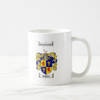 GUTHRIE FAMILY CREST -  GUTHRIE COAT OF ARMS COFFEE MUG