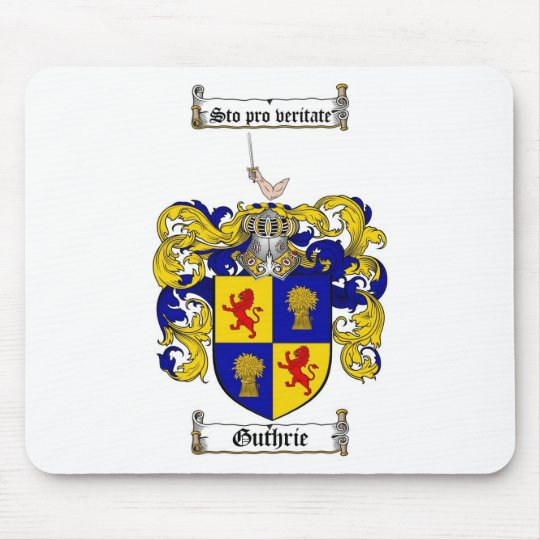 GUTHRIE FAMILY CREST -  GUTHRIE COAT OF ARMS MOUSE PAD