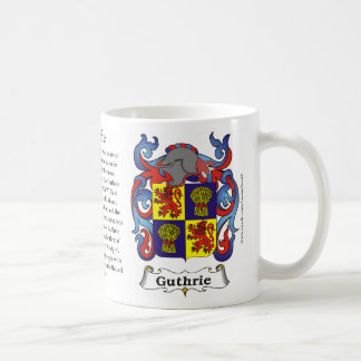 Guthrie, History, Meaning and the Crest Mug