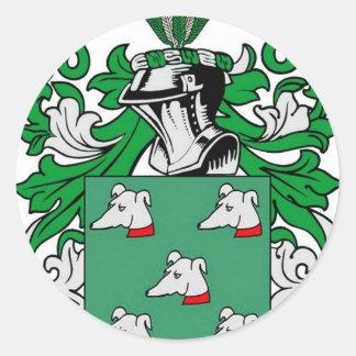 Gutierrez Coat of Arms Classic Round Sticker
