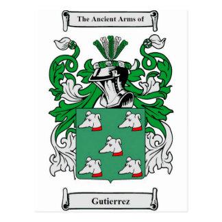 Gutierrez Coat of Arms Postcard